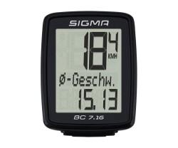 Cykeldator Sigma BC 7.16 svart
