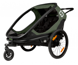 Cykelvagn Hamax Outback One 1 barn Grön/Svart
