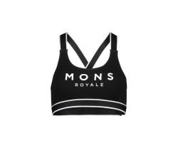 Sport-BH Mons Royal Wool Womens Stella X-Back Bra Svart