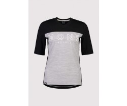 Tröja Mons Royal Wool Womens Redwood Enduro VT Black/Grey Marl