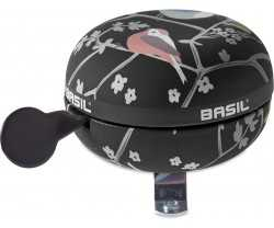 Ringklocka Basil Wanderlust Big Bell svart/Fågelmönster