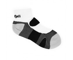 Strumpor Nordfjell Mid Running Sock White