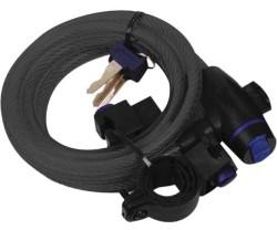 Vajerlås OXC Smoke 12x1800mm med fäste