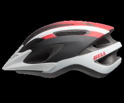 Cykelhjälm Bell Crest 10P matt vit/röd