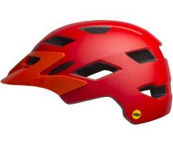 Cykelhjälm Bell Sidetrack MIPS röd/orange