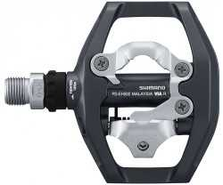 Pedaler Shimano PD-EH500 mörkgrå inkl. pedalklossar