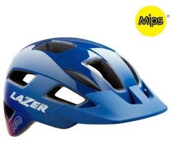 Cykelhjälm Lazer Gekko MIPS grönt spänne blå/rosa
