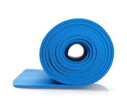 Träningsmatta Master Fitness Yogamatta 4 mm Blå