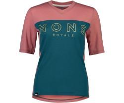 Tröja Mons Royal Wool Womens Redwood Enduro VT Deep Teal / Pink Clay