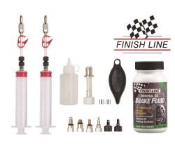 Luftningskit Jagwire Pro Mineral Oil Bleed Kit till Shimano Magura Tektro & TRP inkl. Finish Line Break Fluid